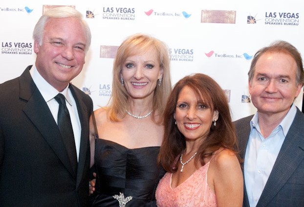 "Jack Canfield, Writer/Producer Robin Jay, Marci Shimoff, and John Gray at ""The Keeper of the Keys"""